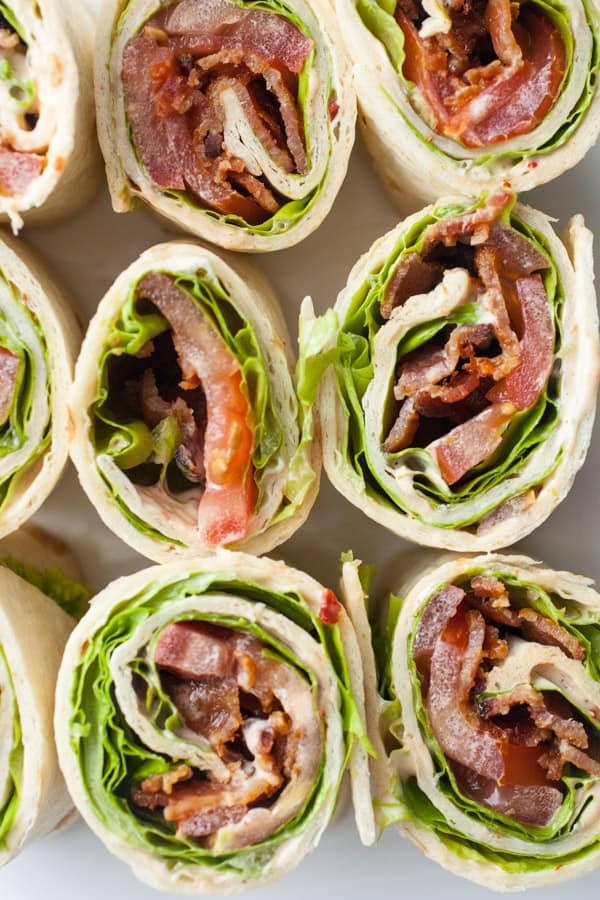 Chipotle Ranch BLT Pinwheels