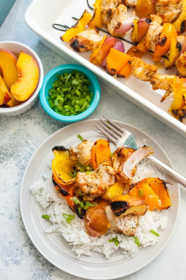 Chicken Peach Kebabs