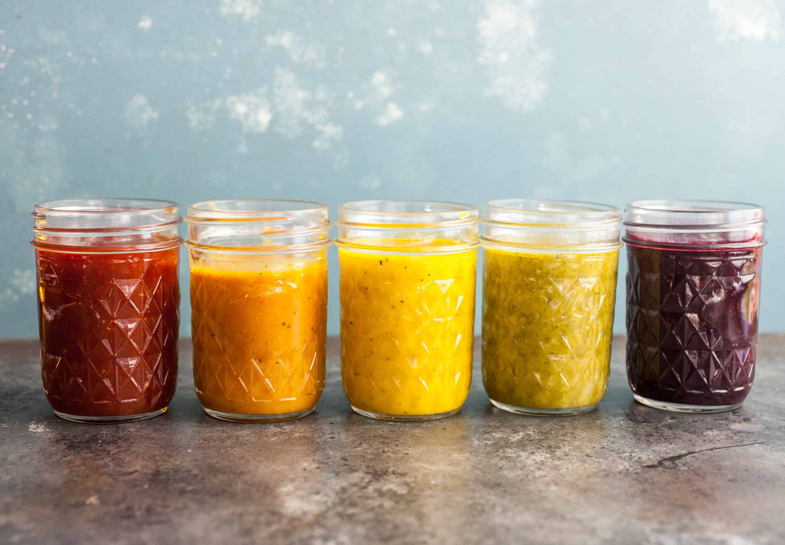 Rainbow BBQ sauces