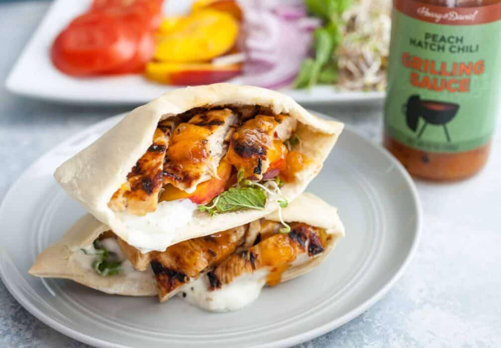 Grilled Chicken Pita Sandwiches