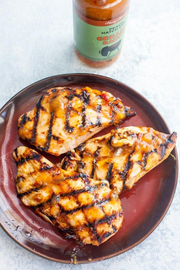 Grilled chicken for pita sandwiches