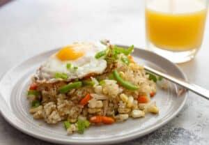 Spicy Breakfast Fried Rice