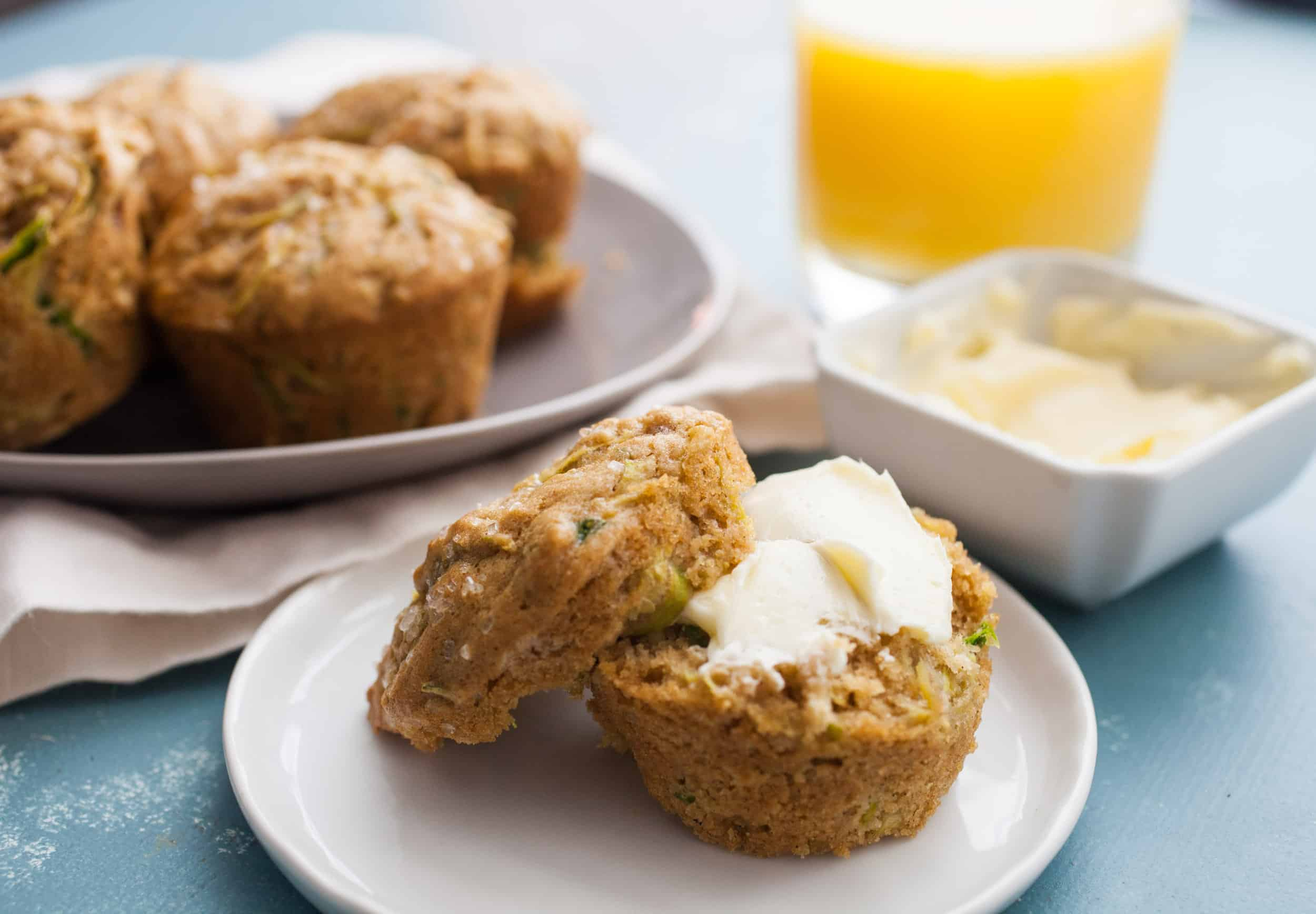 Brown Butter Zucchini Muffins