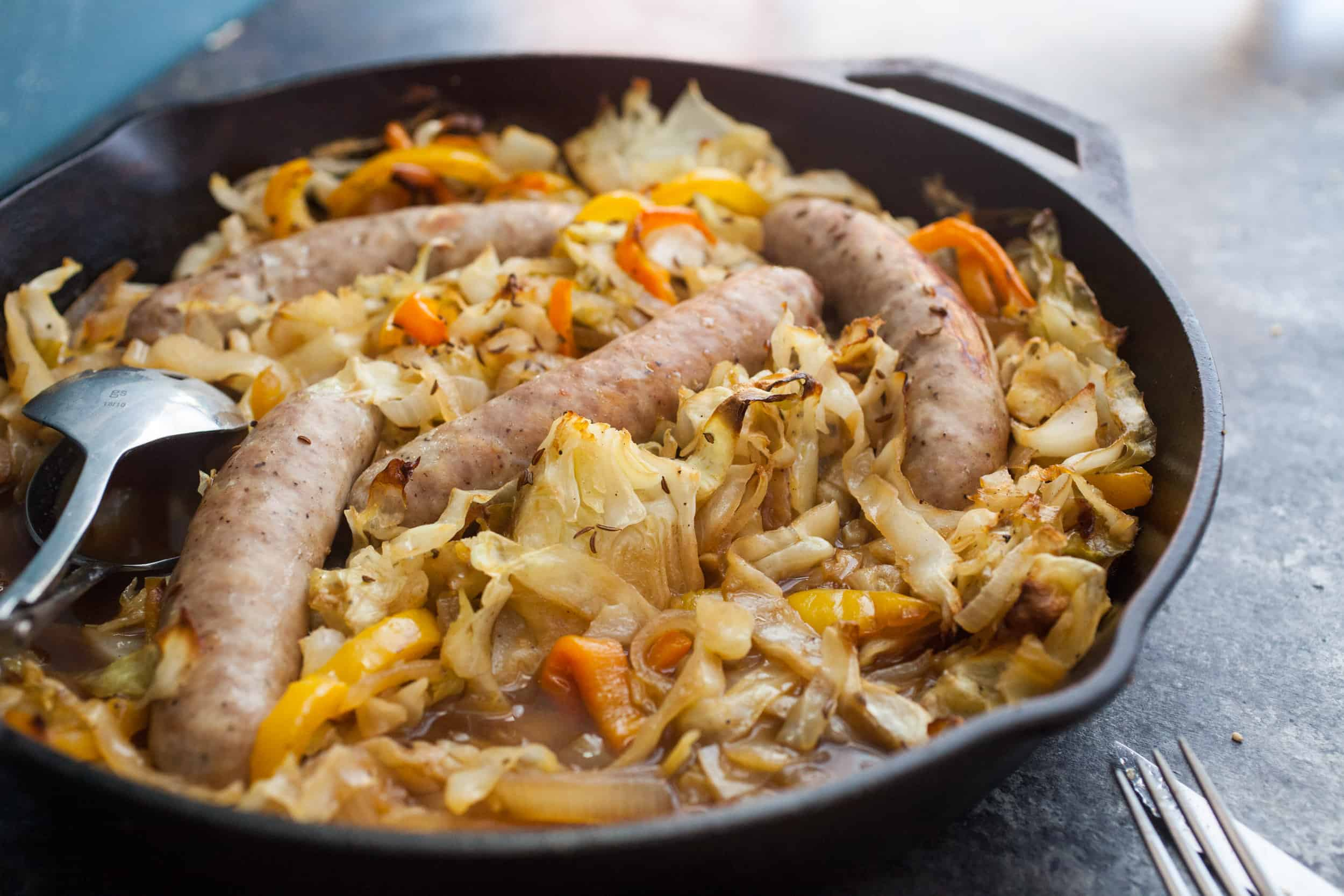 Apple Cider Braised Bratwurst