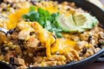 Chicken taco skillet