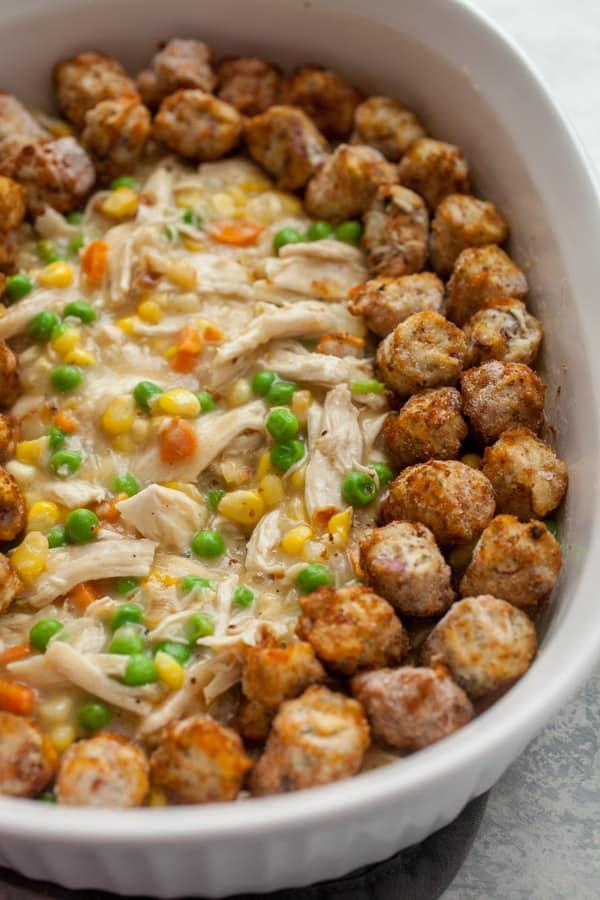 Chicken Hotdish puffs