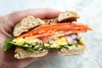 Lox Breakfast Bagel Sandwich