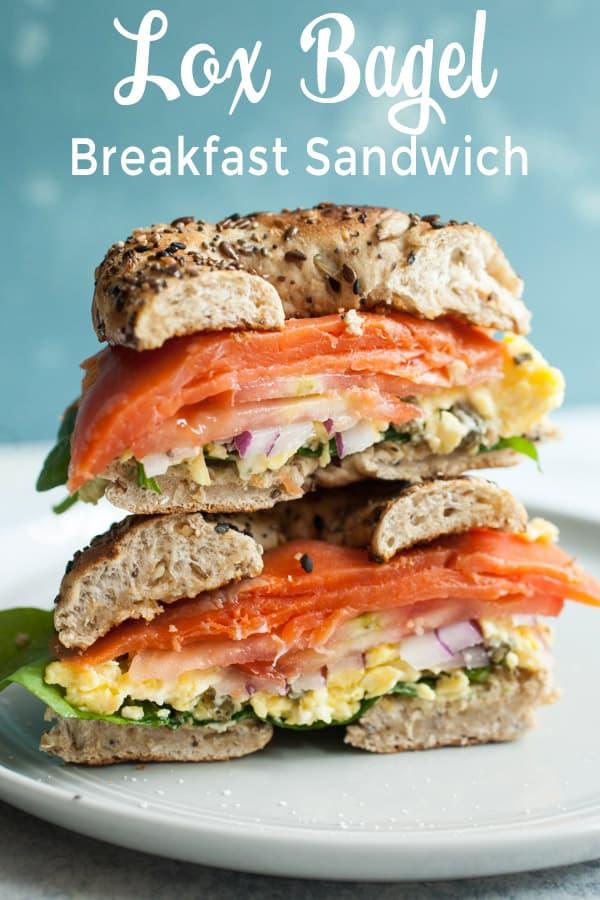 Lox Breakfast Bagel Sandwich