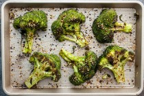 Sesame Chili Broccoli Steaks