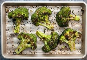 Sesame Chili Broccoli Steaks
