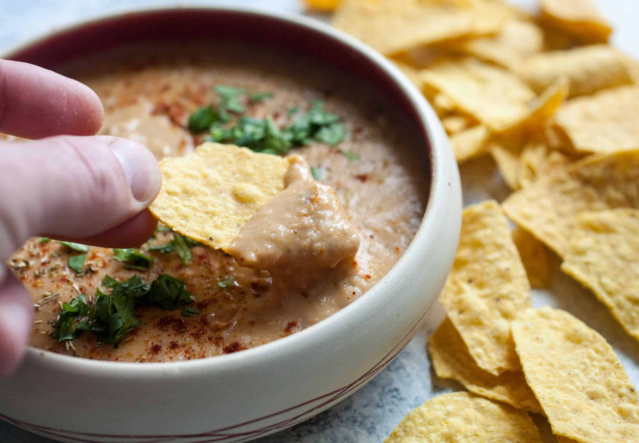 Cheesy Pinto Bean Dip