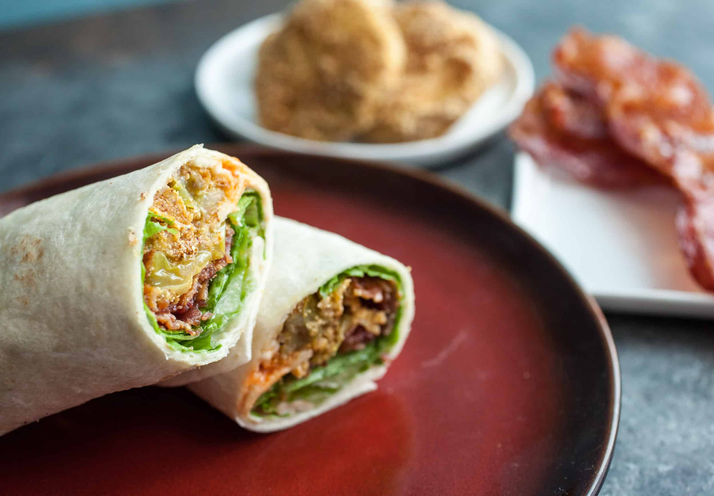 Green Tomato BLT Wraps