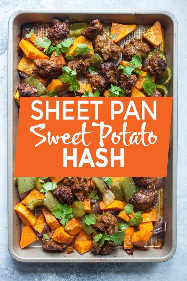 Sheet Pan Sweet Potato Hash