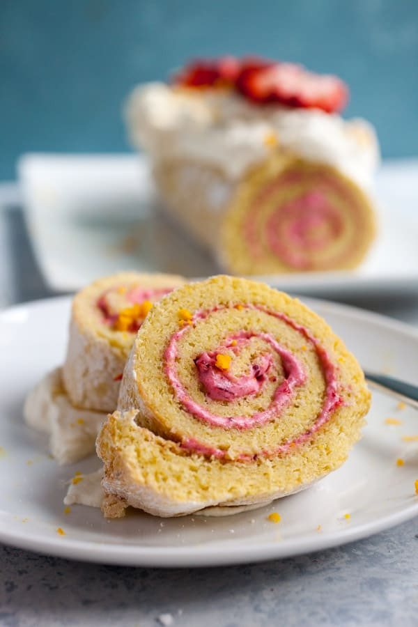Cranberry Swiss roll
