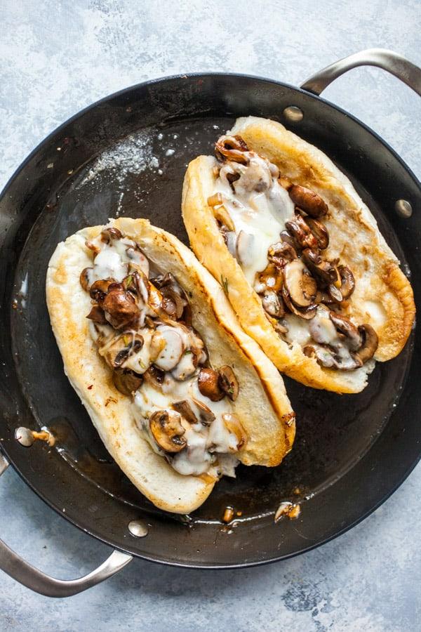 Mushroom Onion Melts