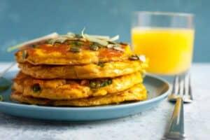 Pumpkin Cheddar Pancakes