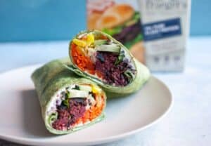 Sweet Heat Beet Burger Wraps