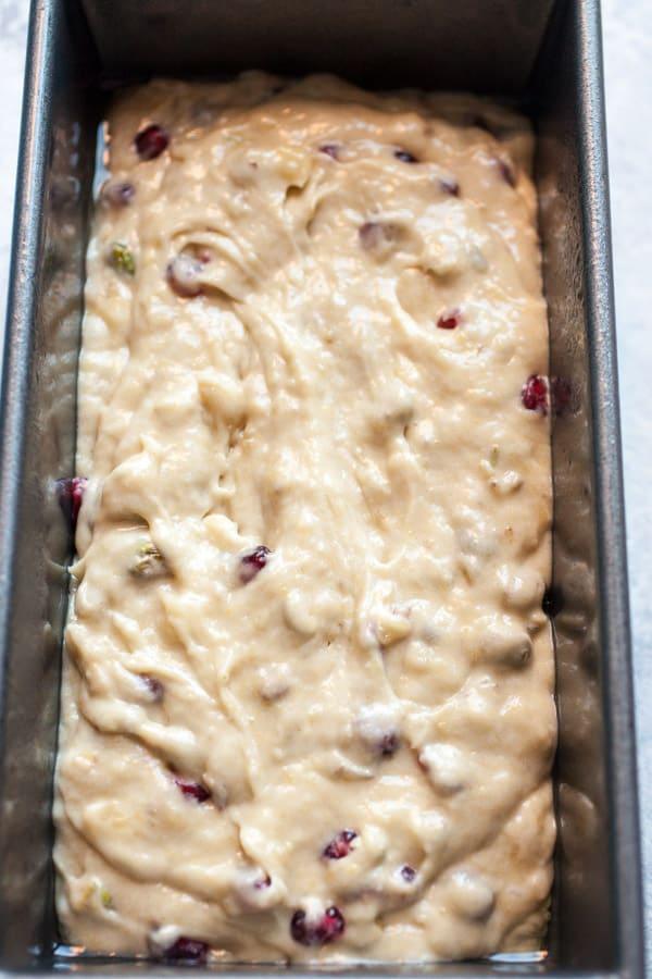 Pomegranate Pistachio Banana Bread