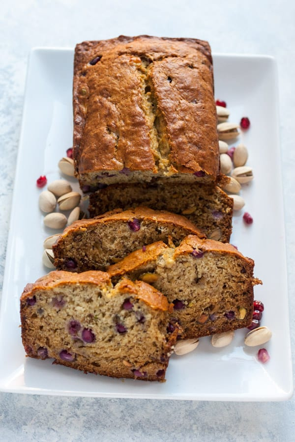 Pomegranate Pistachio Banana Bread