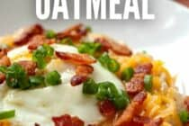 Cheesy Bacon Oatmeal with. Chives