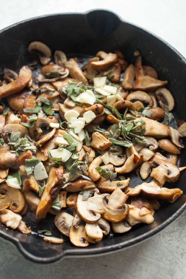 Garlic and herbs for mushrooms