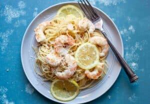 Butter Garlic Shrimp with Angel Hair Pasta