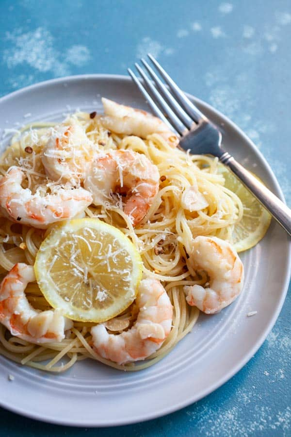 Butter Garlic Shrimp with Angel Hair Pasta