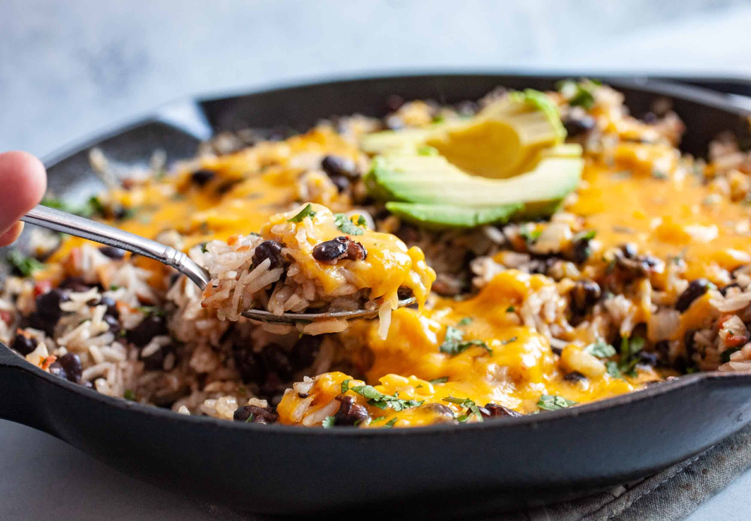 Cheesy Rice and Beans