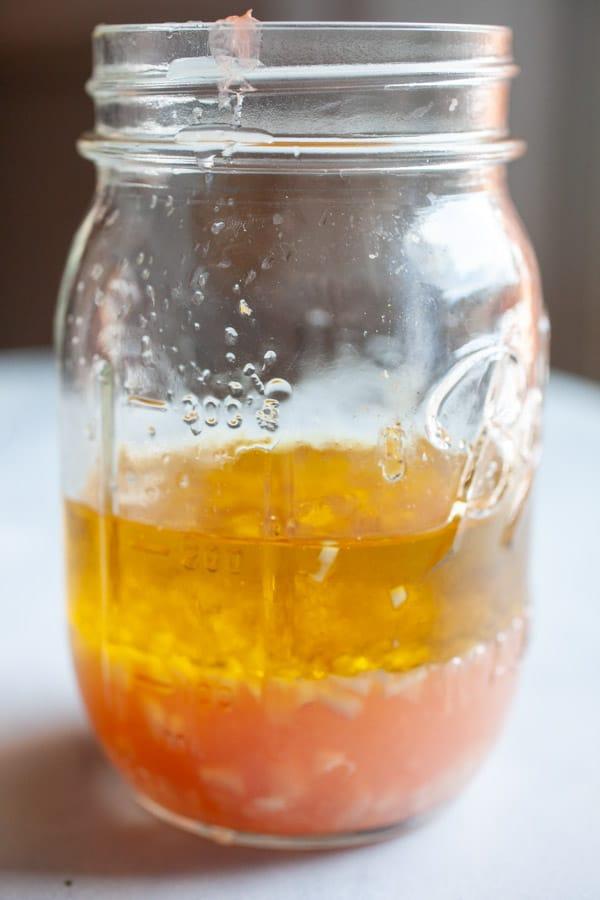 Grapefruit vinaigrette ingredients