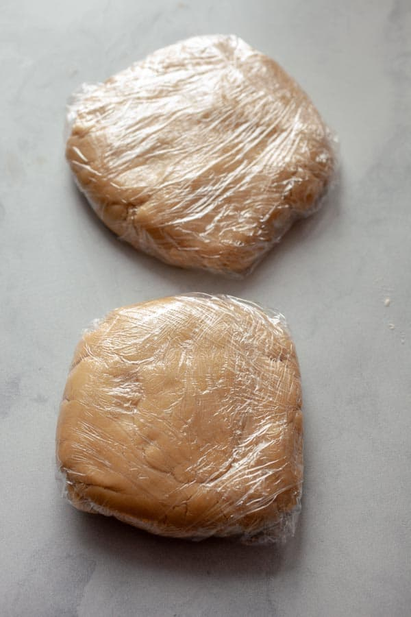 Dough chilled for Strawberry Sandwich Cookies