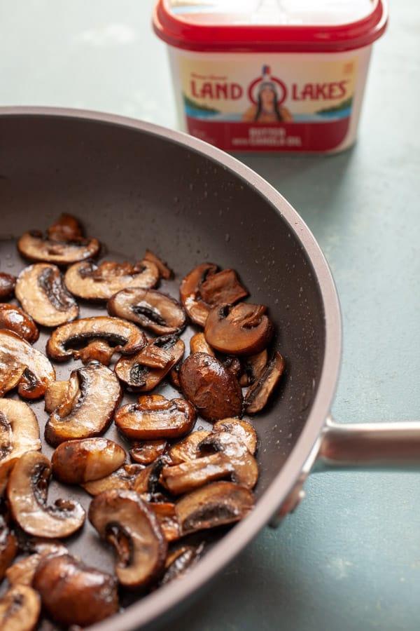 Mushrooms Browned - Mushroom Carbonara