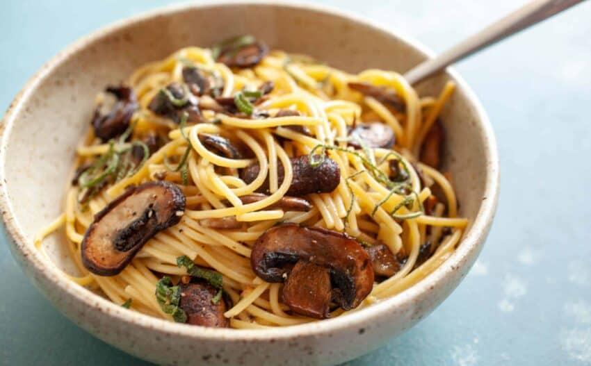 Mushroom Carbonara Recipe