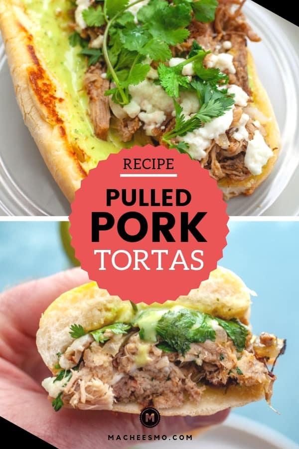 Pulled Pork Tortas with Guacamole Salsa