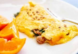 Bacon Spinach Omelette