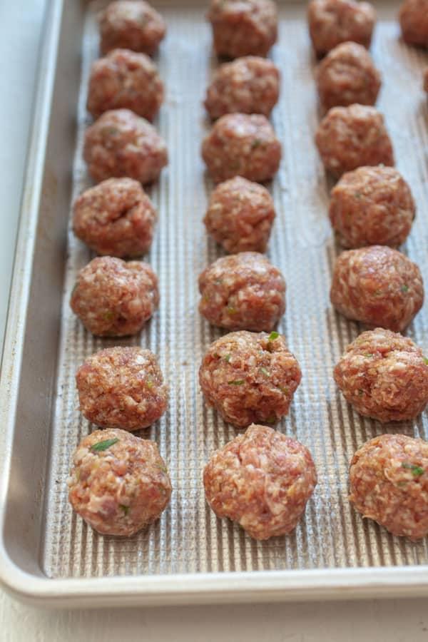 Shaping Meatballs - Sesame Ginger Meatballs