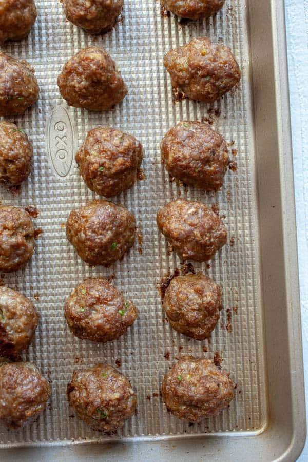 Baked meatballs - Sesame Ginger Meatballs