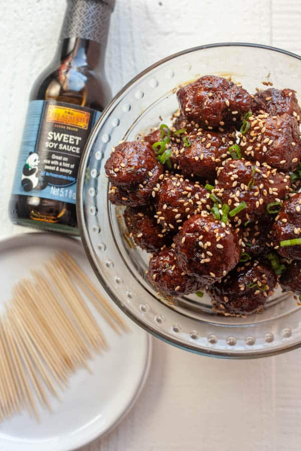 Sweet Soy Sesame Ginger Meatballs