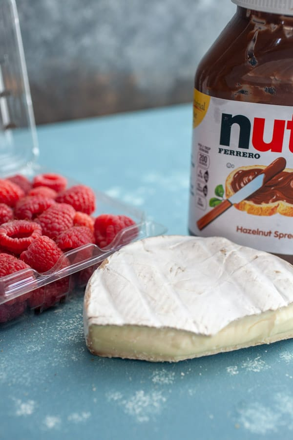 Fillings - Raspberry Brie Grilled Cheese with Nutella