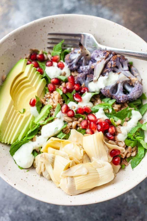 Farro Mediterranean Salad Bowls
