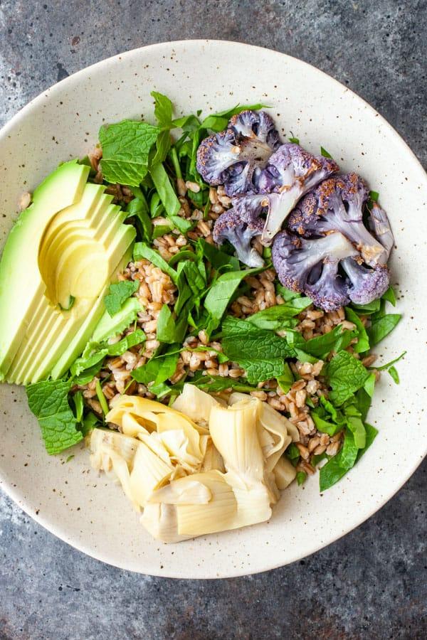 Toppings - Farro Mediterranean Salad Bowls