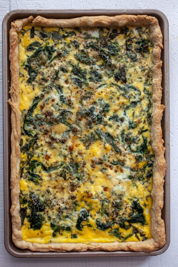 Spinach Quiche Baked