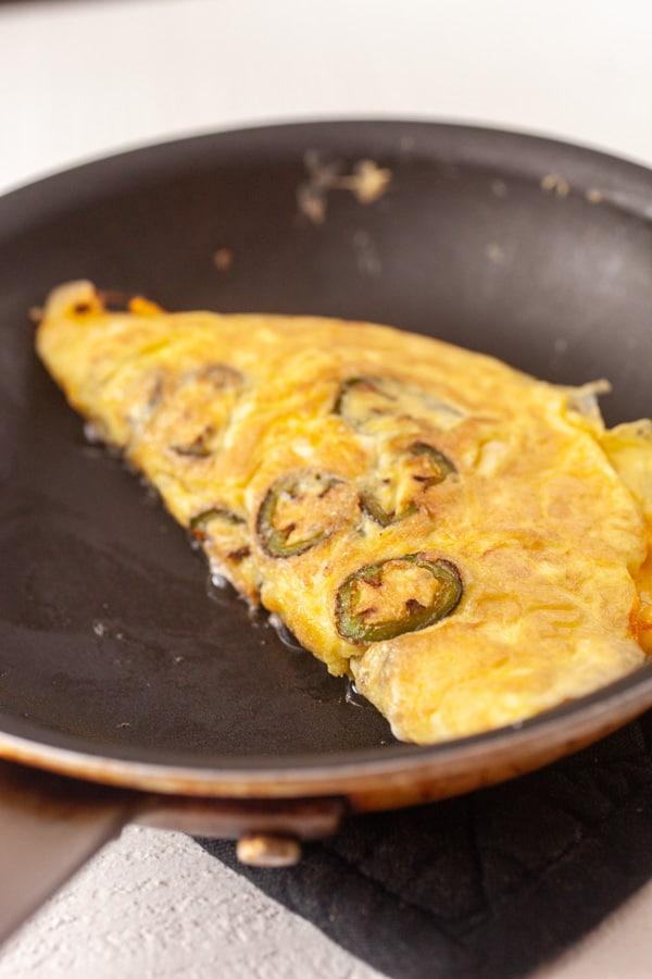 Folded over - Cheddar Jalapeno Omelette