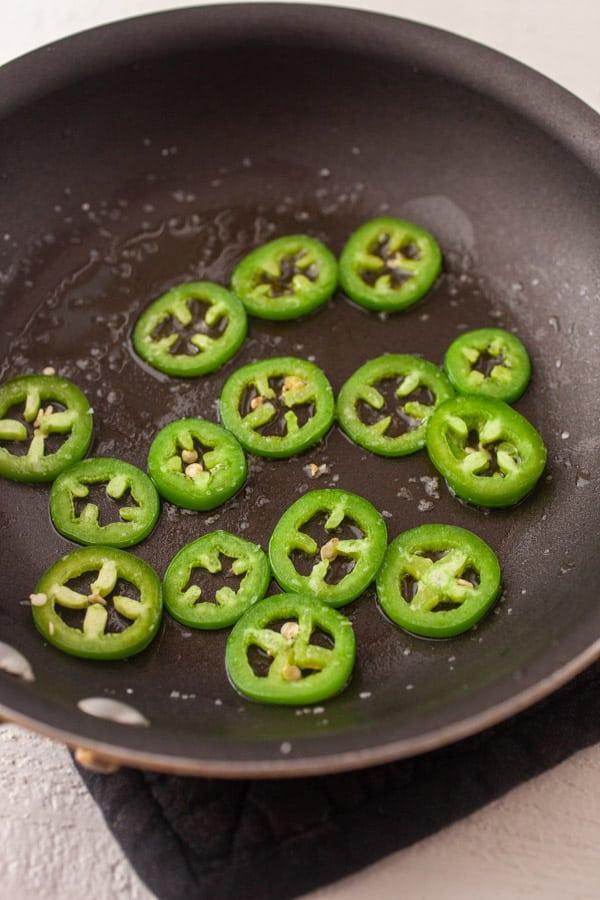 Sliced peppers - Jalapeno Omelette