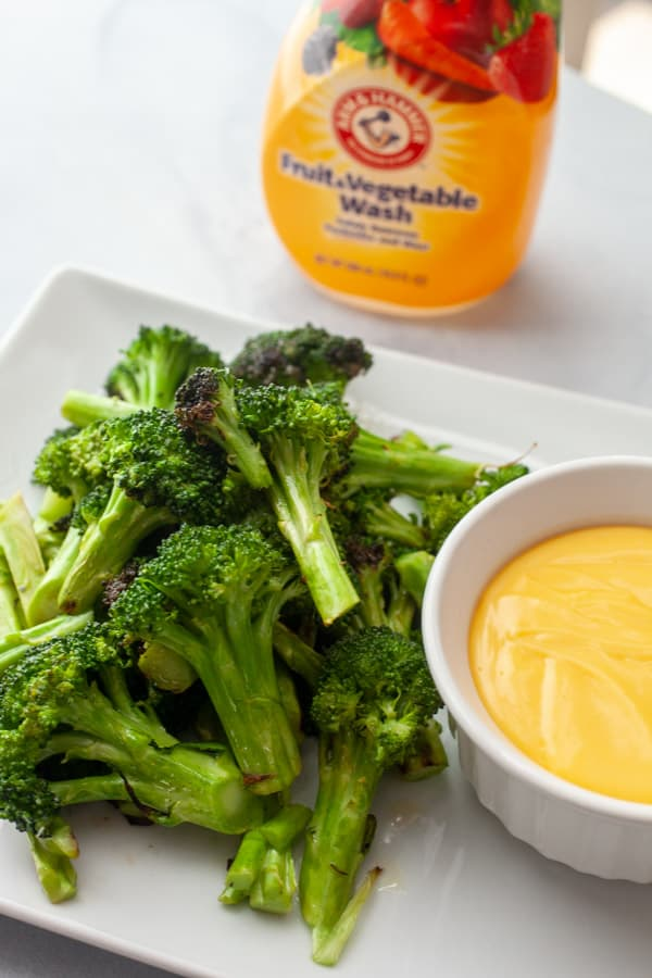 Grilled Broccoli with Cheese Sauce