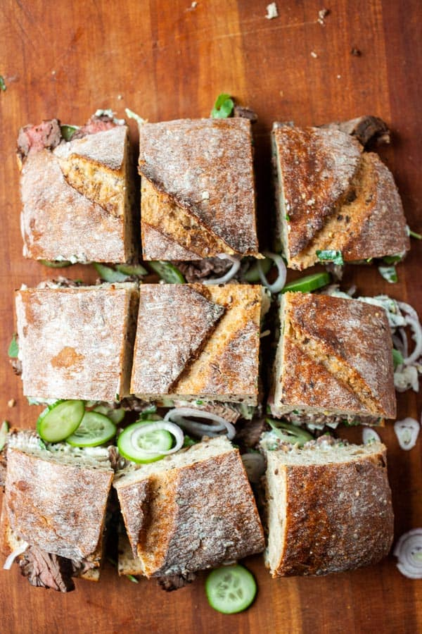 Sandwich sliced - Skirt Steak Sandwiches