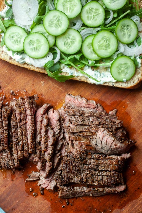 Sliced Steak - Skirt Steak Sandwiches