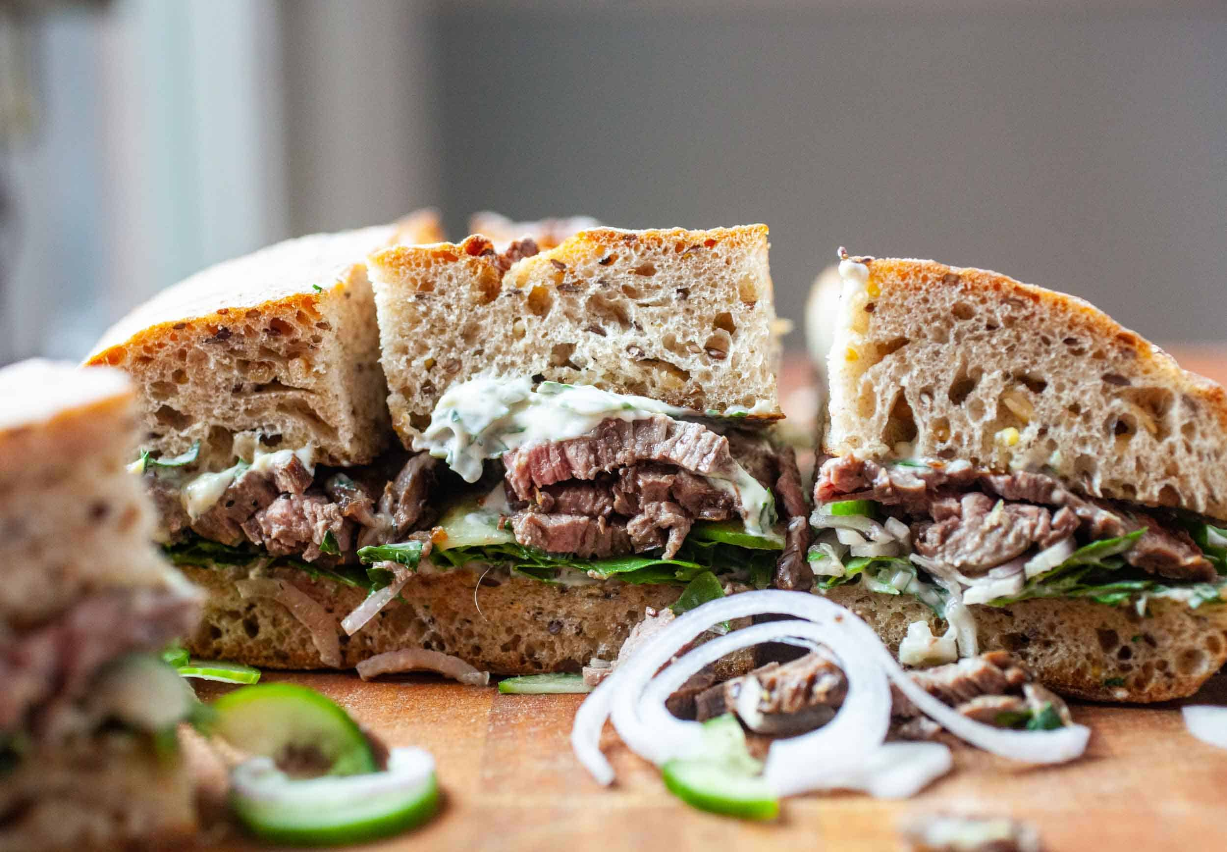 Skirt Steak Sandwiches