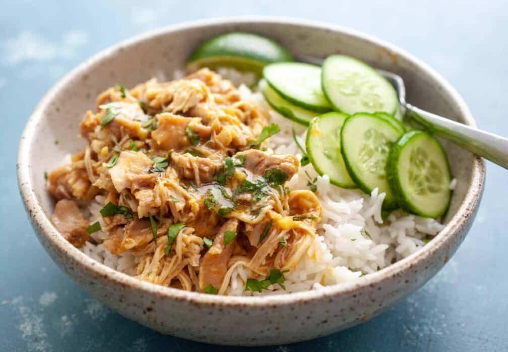 Thai Coconut Chicken Rice Bowls