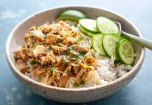 Thai Coconut Chicken Rice Bowls