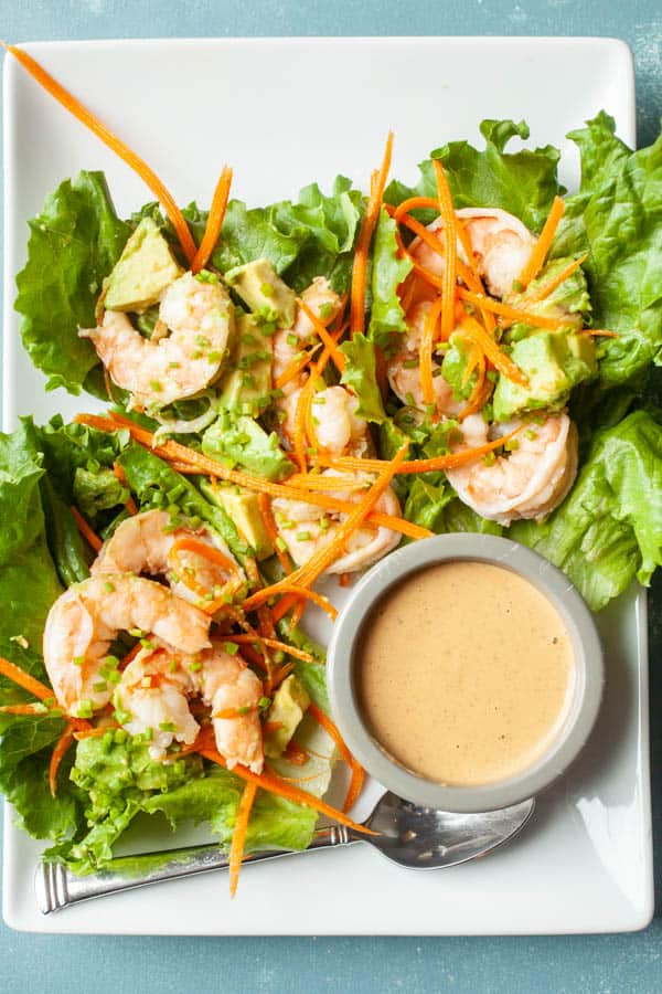 Avocado Shrimp Lettuce Wraps